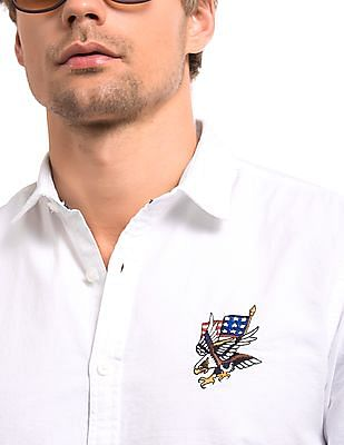 Ed Hardy Slim Fit Oxford Shirt