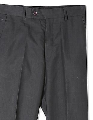 Arrow Smart Fit Flat Front Trousers