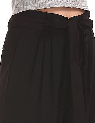Elle Studio Pleated Front Belted Pants