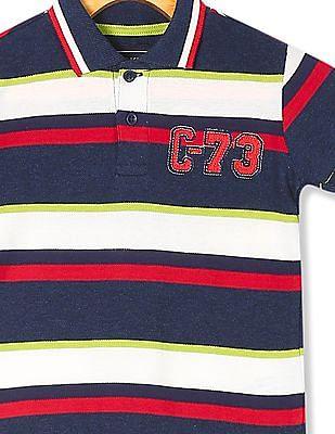 Cherokee Boys Striped Pique Polo Shirt