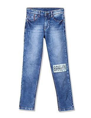 Cherokee Boys Slim Fit Whiskered Jeans