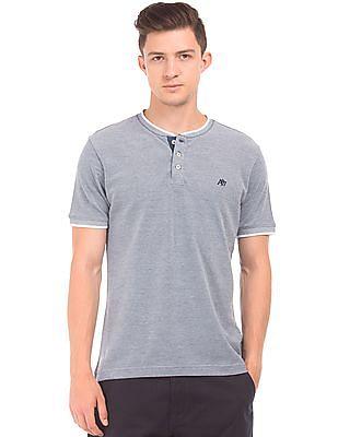 Aeropostale Regular Fit Pique Henley T-Shirt