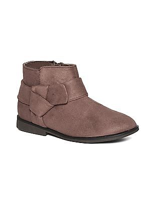 The Children's Place Toddler Girl Brown Bow Boots