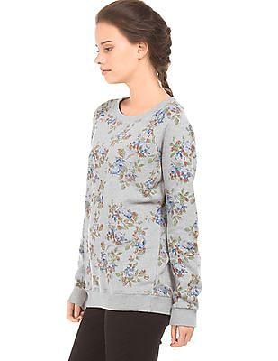 U.S. Polo Assn. Women Floral Print Regular Fit Sweatshirt