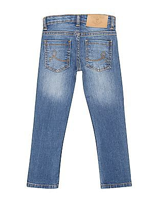 Cherokee Girls Applique Patch Washed Jeans