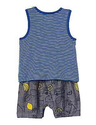 GAP Baby Blue Print Double Layer Tank One Piece