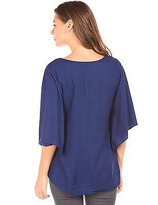Bronz Bell Sleeve Embellished Top