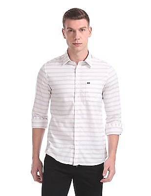 Arrow Sports Slim Fit Stripe Shirt