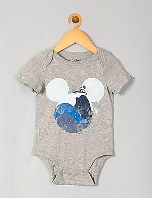 GAP Baby Grey Disney Mickey Mouse Bodysuit