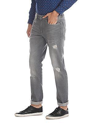 Aeropostale Grey Distressed Skinny Fit Jeans