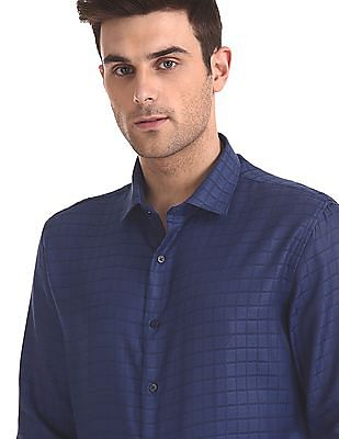 Excalibur Check Classic Regular Fit Shirt