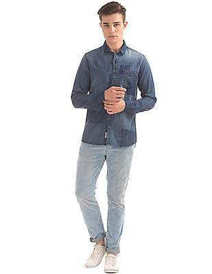 Flying Machine Washed Denim Shirt