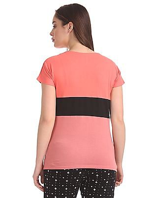 SUGR Colour Blocked Cotton T-Shirt