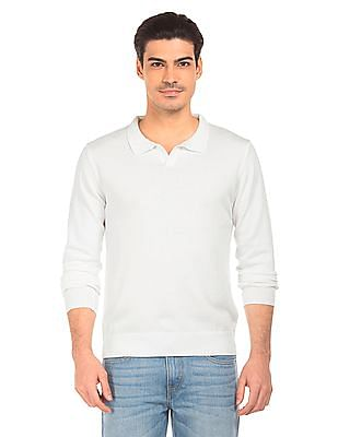 Flying Machine Long Sleeve Slim Fit Sweater