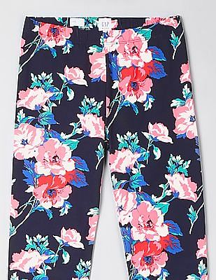 GAP Girls Floral Print Jersey Leggings