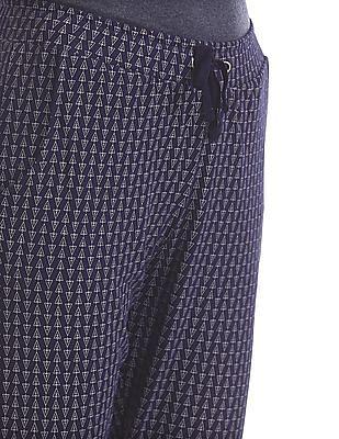 SUGR Drawstring Waist Geometric Print Pants