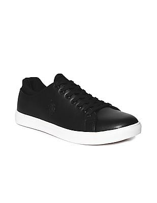 U.S. Polo Assn. Black Round Toe Lace Up Sneakers