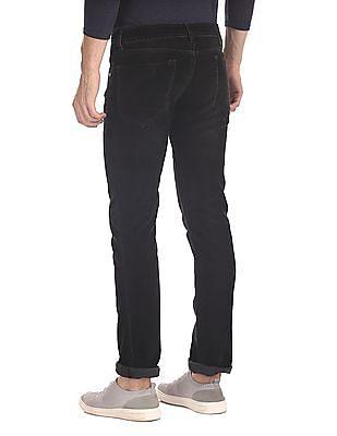 Ed Hardy Black Slim Fit Corduroy Trousers