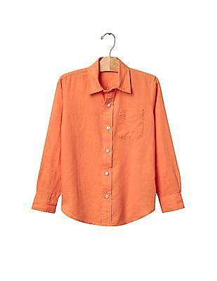 GAP Boys Solid Linen Shirt