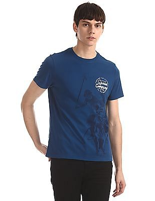 U.S. Polo Assn. Denim Co. Blue Crew Neck Graphic T-Shirt