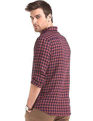 True Blue Linen Gingham Shirt