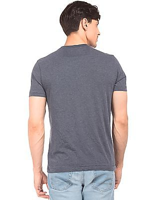 Aeropostale Printed Front Heathered T-Shirt