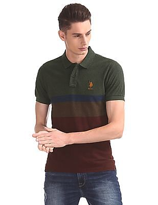U.S. Polo Assn. Regular Fit Colour Blocked Polo Shirt
