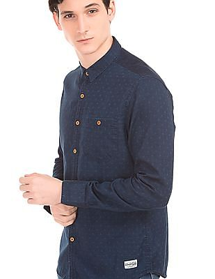 Flying Machine Dobby Weave Chambray Shirt