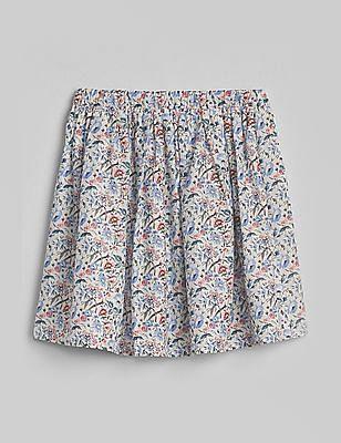 GAP Girls Floral Flippy Skirt