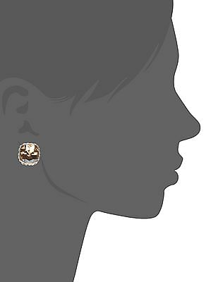 Unlimited Gold Embellished Stud Earrings