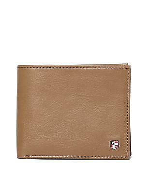 U.S. Polo Assn. Brown Bi Fold Leather Wallet
