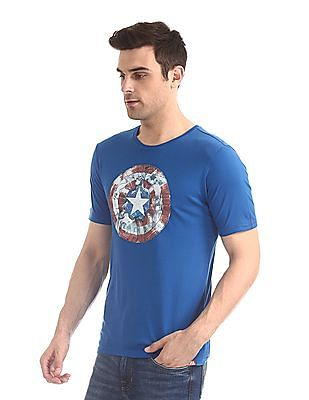 Colt Blue Short Sleeve Captain America Graphic T-Shirt
