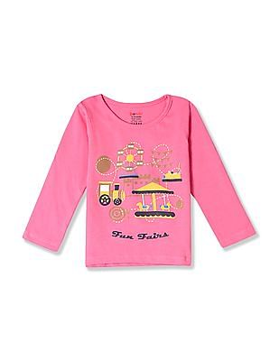 Donuts Girls Long Sleeve Printed T-Shirt