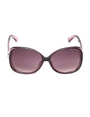 SUGR Oversized Oval Frame Sunglasses