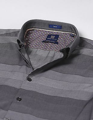 True Blue Slim Fit Concealed Button Down Shirt