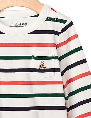 GAP Baby Multi Colour Brannan Pocket Stripe Bodysuit