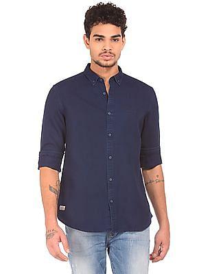 Ed Hardy Textured Button Down Shirt