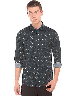 Arrow Newyork Abstract Print Super Slim Fit Shirt