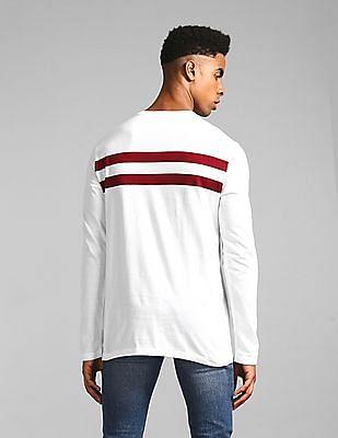 GAP White Long Sleeve Crew Neck Striped T-Shirt