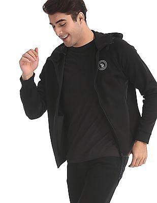 U.S. Polo Assn. Black Hooded Zip Up Sweatshirt