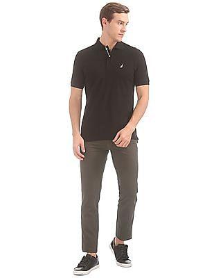 Izod Solid Slim Fit Trousers