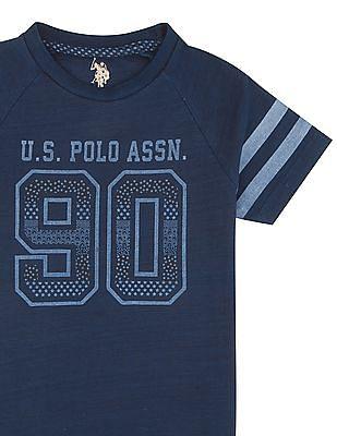 U.S. Polo Assn. Kids Boys Raglan Sleeve Printed T-Shirt