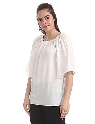 Cherokee Short Sleeve Patterned Top