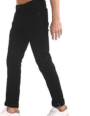 Arrow Sports Black Justin Skinny Fit Rinsed Jeans