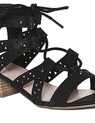The Children's Place Black Girls Crossover Strap Block Heels