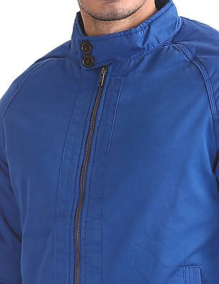 Flying Machine Stand Collar Solid Jacket
