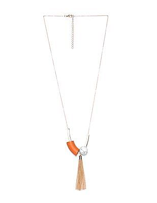 Unlimited Tassel Pendant Beaded Necklace
