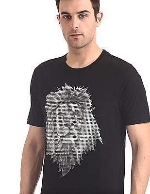 Colt Black Short Sleeve Lion Graphic T-Shirt