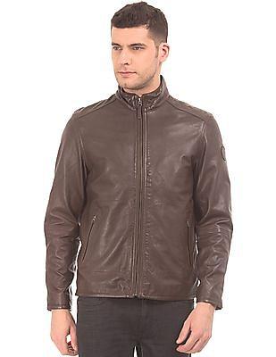 U.S. Polo Assn. Leather Biker Jacket
