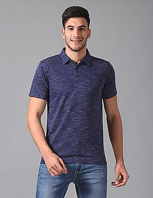 True Blue Slim Fit Jacquard Polo Shirt